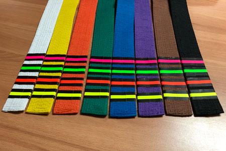 Back of Progress Test Belt Stripes from Merit Badges International