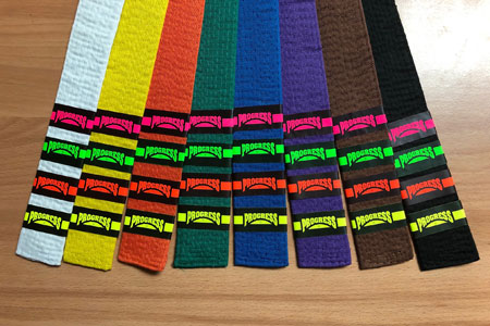 Progress Test Belt Stripes from Merit Badges International